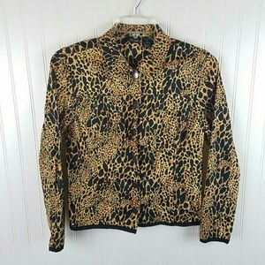 Willi Smith Cheetah Print Jacket Sz medium